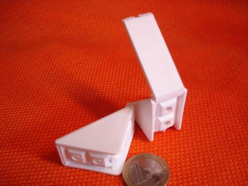 24 x Kst.Universal Winkel Eck Korpus Verbinder weiß braun grau schwarz 32x20 mm