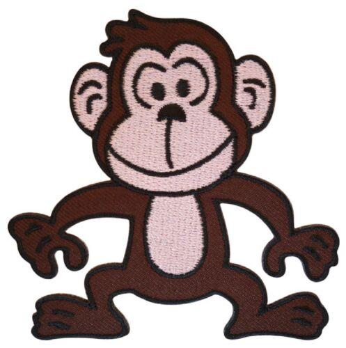 Patche écusson Singe Monkey thermocollant patch NagaPatches brodé