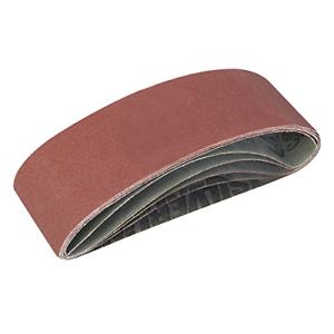 Silverline 310680 Sanding Belts 75 x 533mm 5pce 40, 60, 2 x 80, 120G