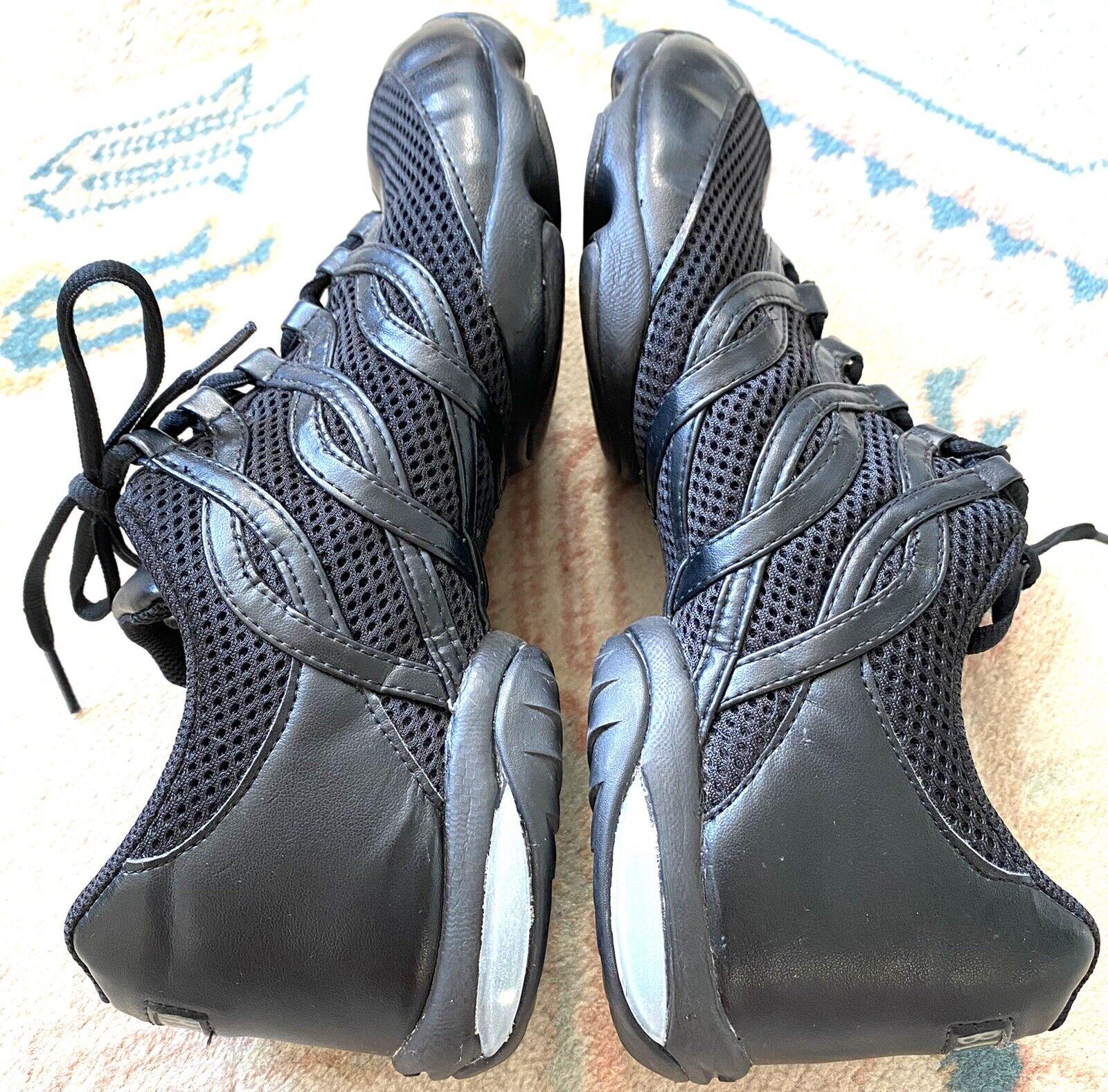BLOCH Adult Wave Split Sole Dance Sneakers In Black U.K Size 10 - Pristine
