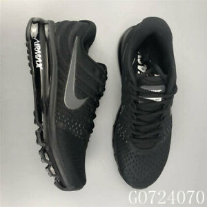 Nike-Air-Max-2017-Men-039-s-Running-Trainers-Shoes-Sneakers-Black