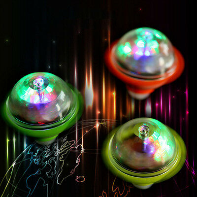 UFO Laser LED Light Crown Gyro Peg-Top Spinner Spinning Giocattolo per bambini