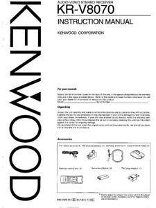 kenwood vr 8070 manual