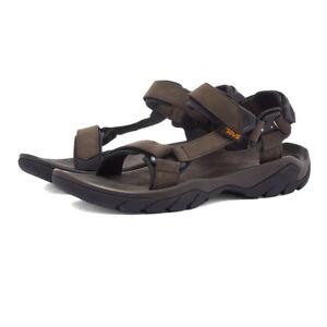 Teva Mens Terra Fi 5 Universal Leather Walking Shoes Sandals Brown Sports