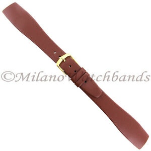 20mm-Hirsch-Brown-Genuine-Quality-Calf-Leather-Unstitched-Open-Ended-Band-LONG