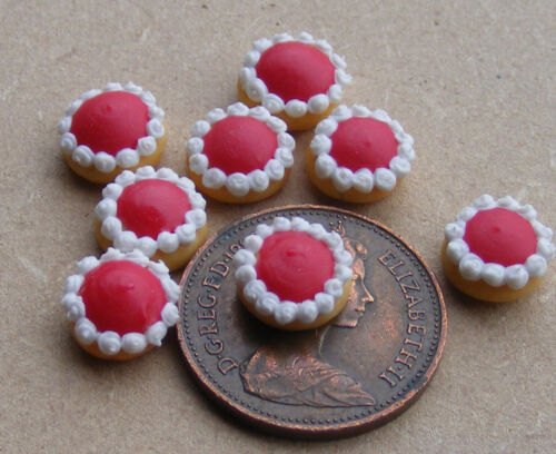 1:12 Scale 7 Jam Tarts Tumdee Dolls House Miniature Kitchen Bakery Cakes PL26