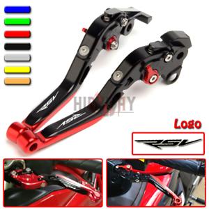 CNC Extendable Folding Motorcycle Adjustment Brake Clutch Levers For Aprilia RSV MILLE//R 2004 2005 2006 2007 2008