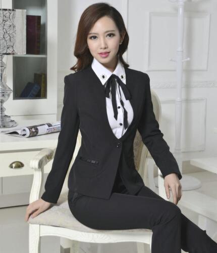Fashion Women/'s Ladies Office Uniform Business Vest Waistcoat Skirt Suit Pants