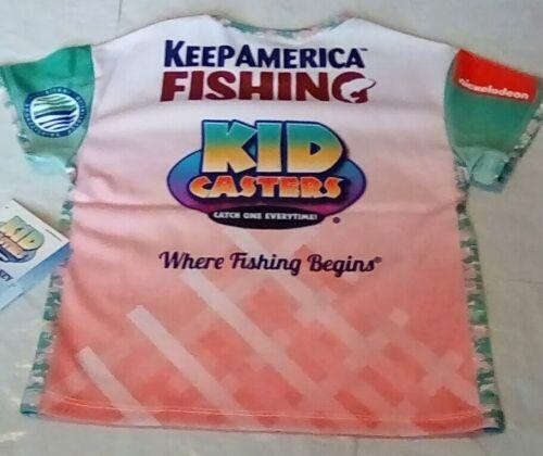 NEW Kid Casters Keep America Fishing Nickelodeon Fishing Jersey Kids Size 5T