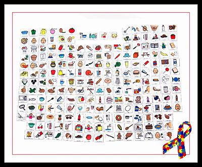 200 Pecs Food Cards Picture Exchange Communication Boardmaker Autism Ebay
