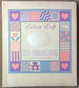 Carlson Craft Birth Announcements Stationery Sales Sample Binder 1992 Vintage