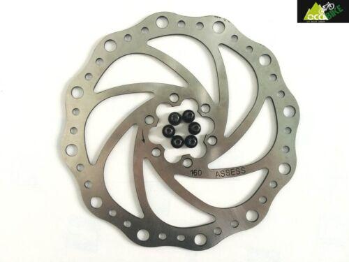 Disque de frein VTT 160mm 6 trous Wavy  disque de frein 160mm wavy 6 vis NEUF