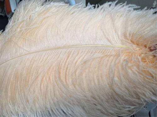 45-50cm Grande Calidad Champán Plumas de Avestruz Largo Boda Fiesta Disfraz