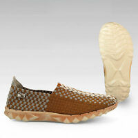 Hey Dude E-last Stripe Toast Casual Shoes Mens Size Uk8/eu42