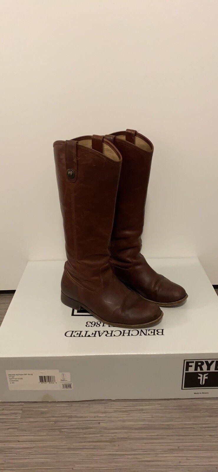 Frye Women's Melissa Button Riding Boots Size 6.5 77167-COG