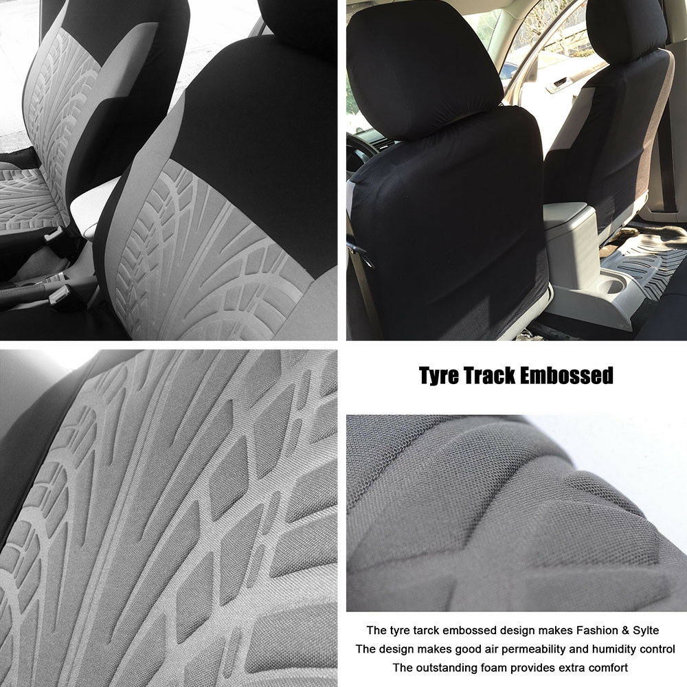 VW TIGUAN Leather Look MAYFAIR Black FRONT Car Seat Covers