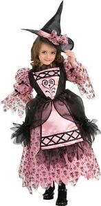 Adorable Rubie's Deluxe Sweetheart Witch Pink and Black Costume - Large 12-14