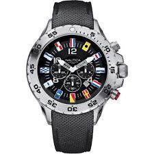 Orologio Nautica da uomo A24520G Cronografo in acciaio Cinturino Nero Bandierine
