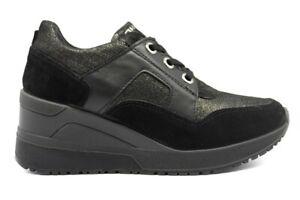 IGIeCO-4143133-Nero-Sneakers-Scarpe-Donna-Calzature-Casual