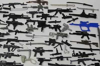 Random lot of 20 GI JOE Cobra Ninja figure/'s diffrerent Accessories weapons guns