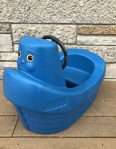 Vintage Little Tikes Blue Tug Boat Child Toddler Size Ebay