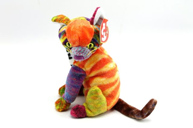 fad2e8da5ad TY 2000 Kaleidoscope Calico Patchwork Cat Bead Bottom Beanie Baby