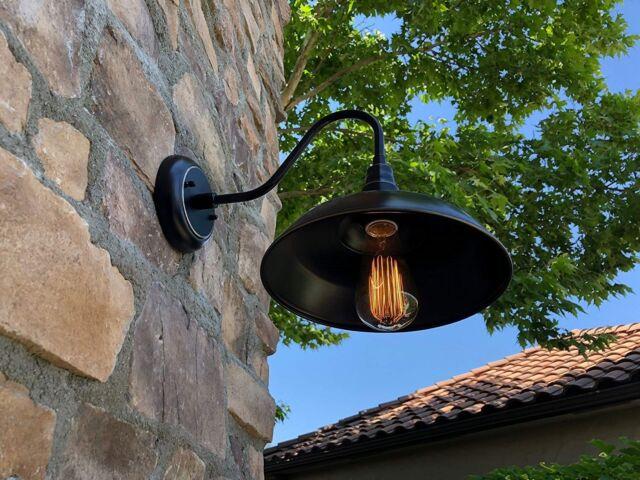 Adjustable Metal Gooseneck Barn Light Adlxsv925 Black For Sale Online Ebay