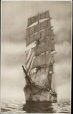 Tall Schooner Ship PENANG c1915 Real Photo Postcard