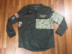 lowest price fbb84 9cc13 Details about Nike Pittsburgh Steelers Jacket Sz M Salute To Service NFL  Camo Military Went