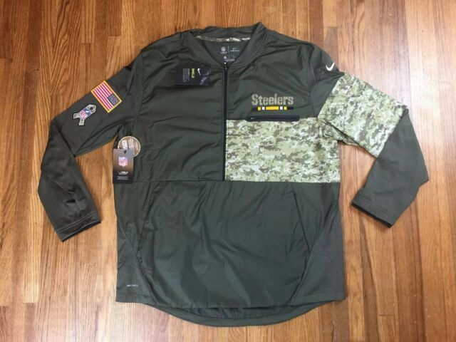 3e14f942 Nike Pittsburgh Steelers Salute To Service Hybrid Jacket Sz XL NFL Camo  Pullover