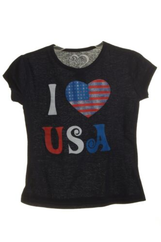 Girls USA Olympics Toddler Heart Glitter Top Shirt 2T 3T 4 5 6 6X 7 8 10 12 NEW