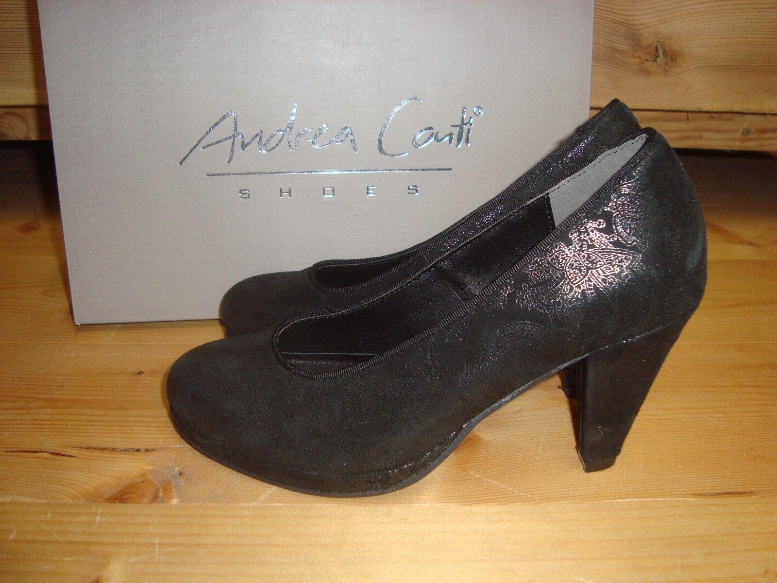 Andrea Conti Trachten Pumps Dirndl Schuhe schwarz Damen Gr. 36 37 38 39 40 41