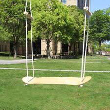 Garden Skateboard Swing with Handel Wood Color Blank Decks Tree Swing for Kids