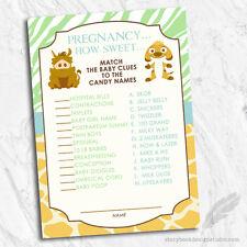 Simba lion king safari baby shower invitation ebay item 5 lion king simba baby shower candy game cards jungle animal theme digital file lion king simba baby shower candy game cards jungle animal theme filmwisefo