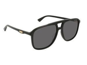 e43be9910b La imagen se está cargando Gucci-gafas-de-sol-GG0262S-gris-negro-hombre-
