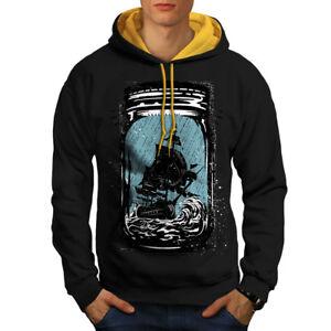 Jam gold Hood Black Contrast Pirate Hoodie Men New Ship Jar 1wS55xqg4