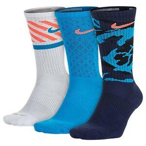 Hommes Nike Dri-fit Mouche Triple 3 Paires De Chaussettes De L'équipage  visite