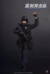 Soldier Story Commandos Swat Échelle 1/6 en Acier Bleue Chine Beijing Ss-099