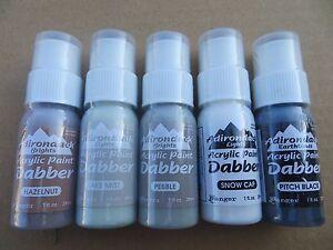 Lot of 5 Ranger Adirondack Acrylic Paint Dabbers New (Factory Sealed)