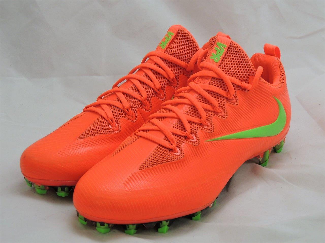 Nike vapore intoccabile intoccabile intoccabile (sz 12 / arancione verde football scarpette 833385 838 05714b