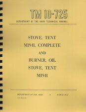 TM10-725 ~ Tent Stove Manual ~ 1952 ~ Reprnt