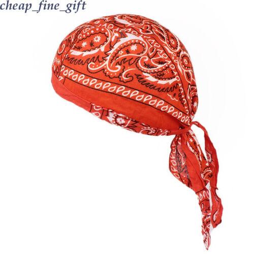 Men Women Cotton Floral Turban Running Cycling Cap Bandana Wrap Headwear Hat