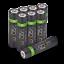 miniature 41 - Rechargeable Haute capacité AAA/AA Batteries Et 8-Way dock de chargement-Venom
