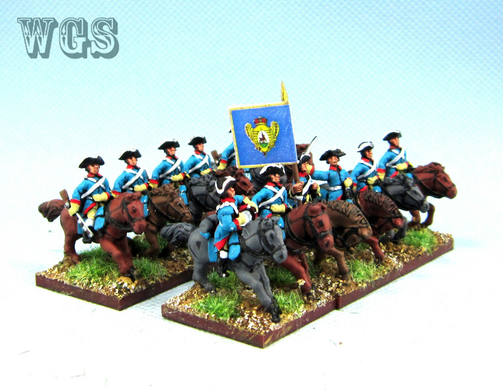 15MM WGS Seven Years War SYW Målat Ryssland drakes RB11