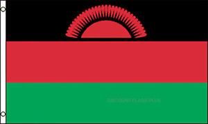 Malawi International  3x5 Polyester Flag
