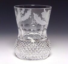 1x Edinburgh Crystal Thistle Old Fashioned Whisky Tumbler 4 Inch First Quality