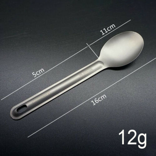 Titanium Spoon And Fork Camping Outdoor Tableware Long-handled Portable To Je