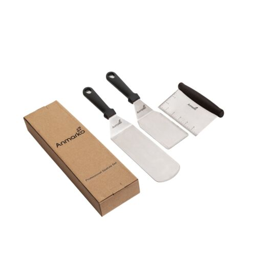 Great for cast iron griddle BBQ Grill ... 2 Griddle Spatulas Griddle scraper