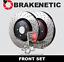 BRAKENETIC PREMIUM DRILLED Brake Rotors+POSI QUIET Ceramic Pads BPK73580 FRONT