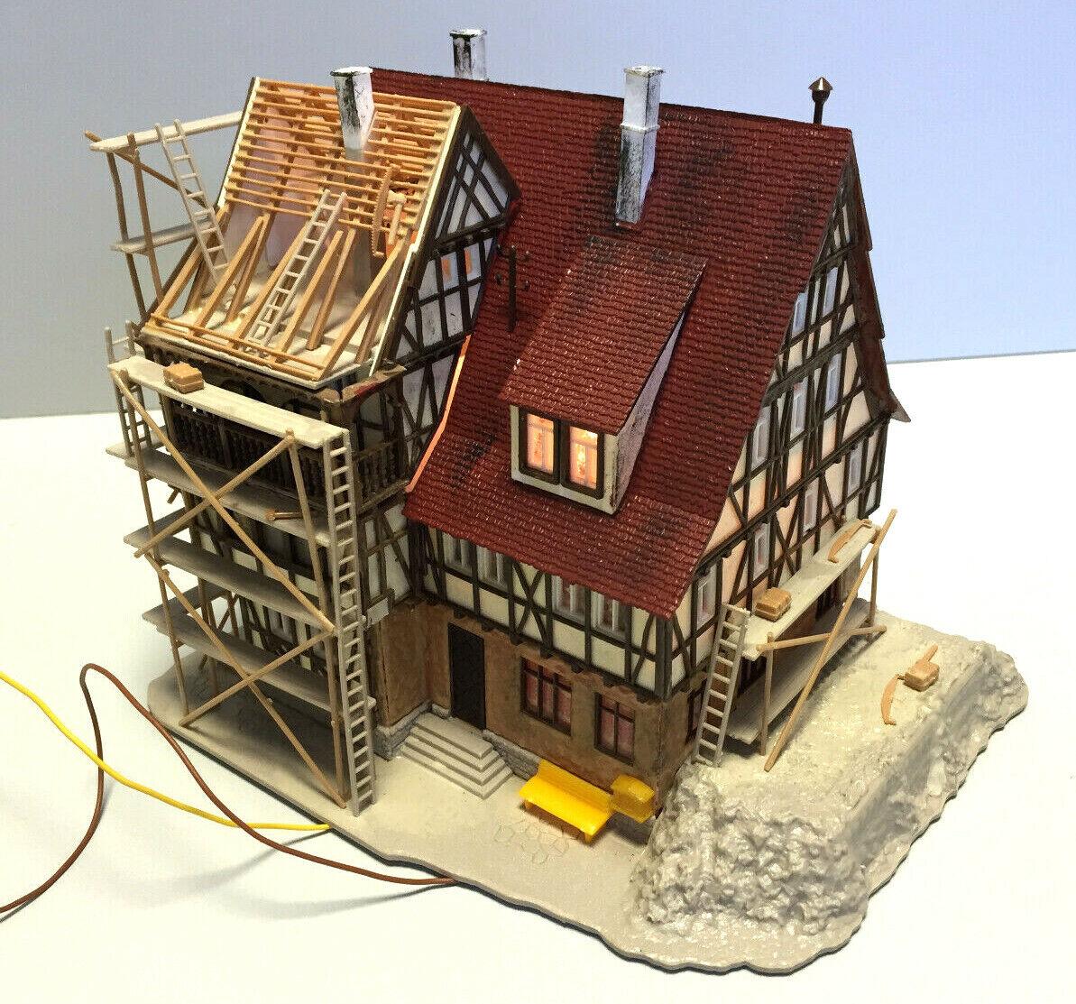 Vollmer 26866 h0 casa en construcción con andamio, diferentes Colors gesúpert & envejecido, 1 87